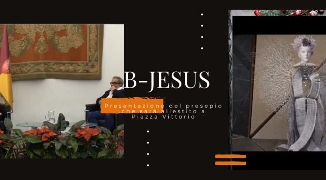 """Presentazione ufficiale del Presepio """"B-Jesus"""" che verrà allestito nei primi giorni del 2021 nel giardino di Piazza Vittorio"""