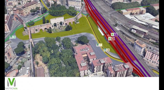 Un progetto di Metrovia per l'area di Porta Maggiore e via Giolitti  finalmente rispettoso dei tesori archeologici della zona