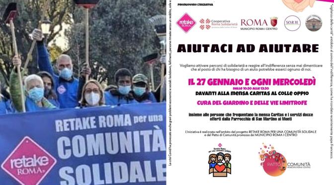 """27 gennaio 2021 """"Aiutaci ad aiutare"""" al Colle Oppio"""