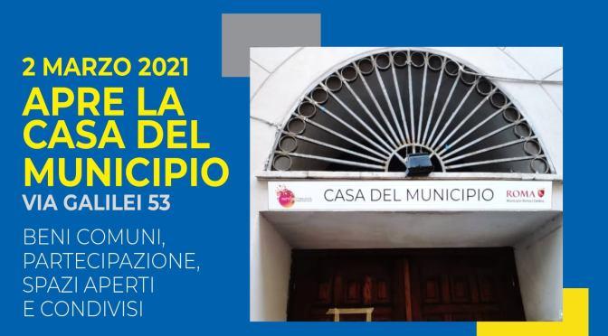 """2 marzo 2021 Inaugurazione della """"Casa del Municipio"""" a via Galilei, 53"""