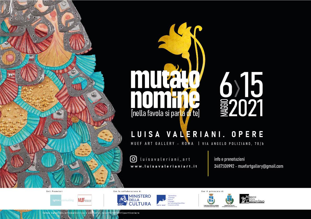 """6 – 15 maggio 2021 """"Mutato Nomine"""" Mostra d'arte al MUEF Art Gallery"""
