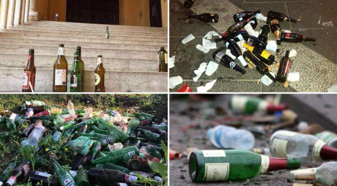 Sabato 29 maggio presso largo Leopardi continua la raccolta di firme per vietare il consumo di bevande alcoliche d'asporto in tutte le aree pubbliche e giardini
