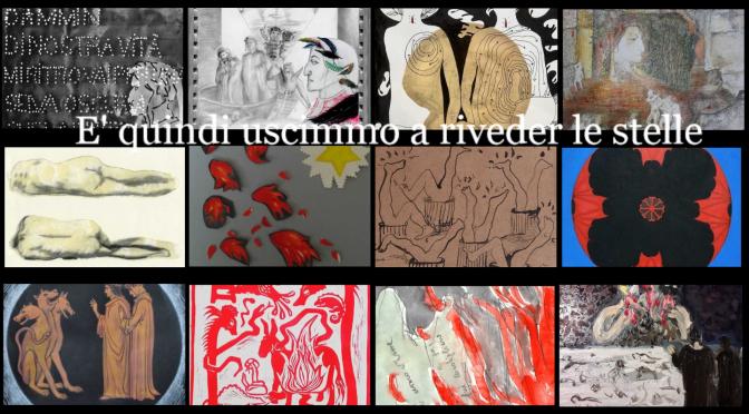 """Arco di Gallieno """"E quindi uscimmo a riveder le stelle"""" I 34 bozzetti dei 34 artisti Che hanno partecipato al progetto di illustrare i 34 canti dell'inferno dantesco"""