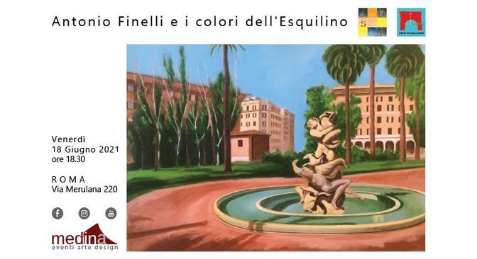 """Dal 18 giugno 2021 """"Mostra delle nuove opere di Antonio Finelli"""" al Medina ArtGallery"""
