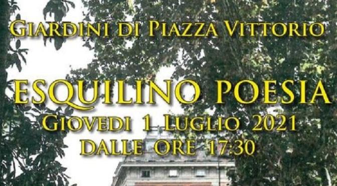 1 luglio 2021 presentazione dell'Associazione Esquilino Poesia A.P.S. nel giardino di Piazza Vittorio