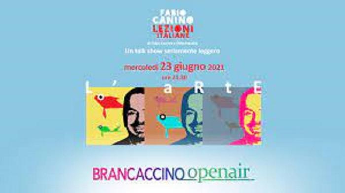 """23 giugno 2021 """"Lezioni Italiane – l'arte"""" al Brancaccino openair"""
