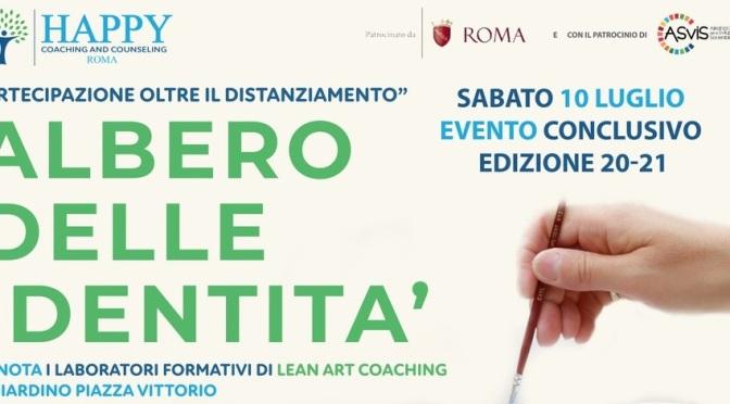 """10 luglio 2021 evento conclusivo edizione 20-21 del progetto  """"Albero delle identità"""" a Piazza Vittorio"""