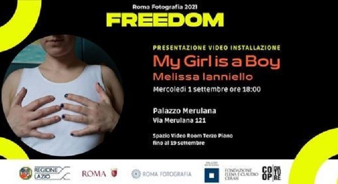 """1 – 19 settembre 2021 """"My girl is a Boy"""" video installazione di Melissa Ianniello a Palazzo Merulana"""