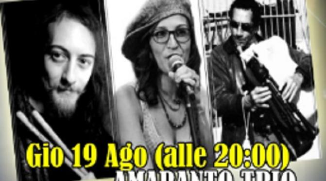 """19 agosto 2021 """"Amaranto Trio"""" a Notti di Cinema a Piazza Vittorio"""