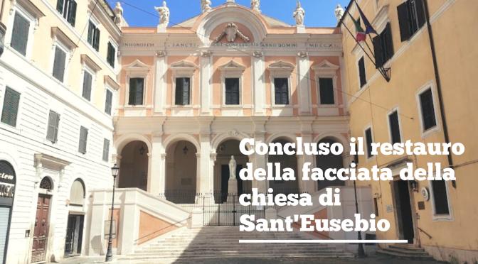 Agosto 2021 – Concluso il restauro della facciata della chiesa di Sant'Eusebio