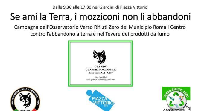16 settembre 2021 a Piazza Vittorio riparte la campagna contro l'abbandono delle cicche di sigaretta nell'ambiente