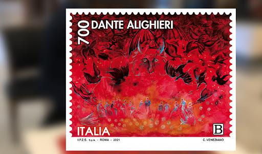 """24/09/2021 Presentazione dell'opera (francobollo) """"L'Inferno evocando Buffalmacco"""" a Palazzo Merulana"""