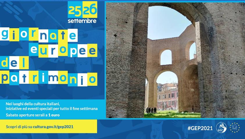 25 settembre 2021 apertura straodinaria del cd. Tempio di Minerva Medica in occasione della Giornate Europee del Patrimonio (prenotazione obbligatoria)
